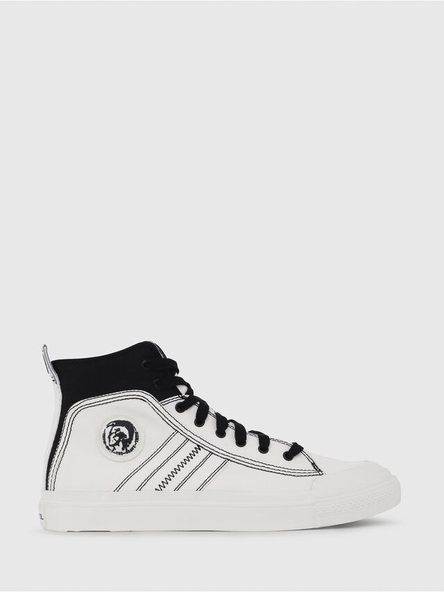 Diesel - S-ASTICO MID LACE, White/Black - Sneakers - Image 1