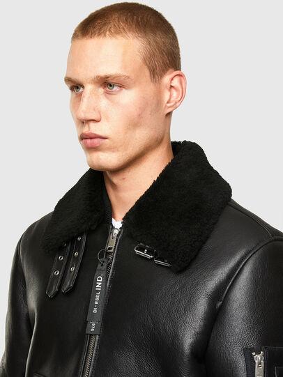 Diesel - L-ARNOLD, Black - Leather jackets - Image 3