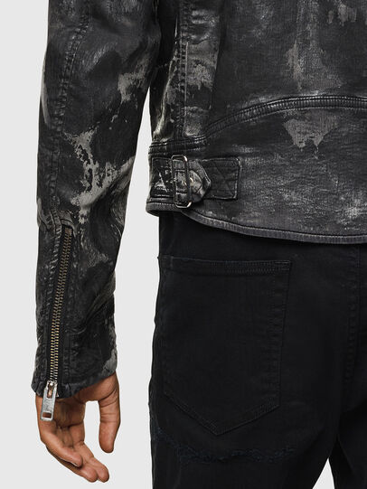 Diesel - D-JEI-SP1 JOGGJEANS, Black/Dark grey - Denim Jackets - Image 6