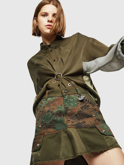 Diesel - O-AMATA, Green Camouflage - Skirts - Image 1