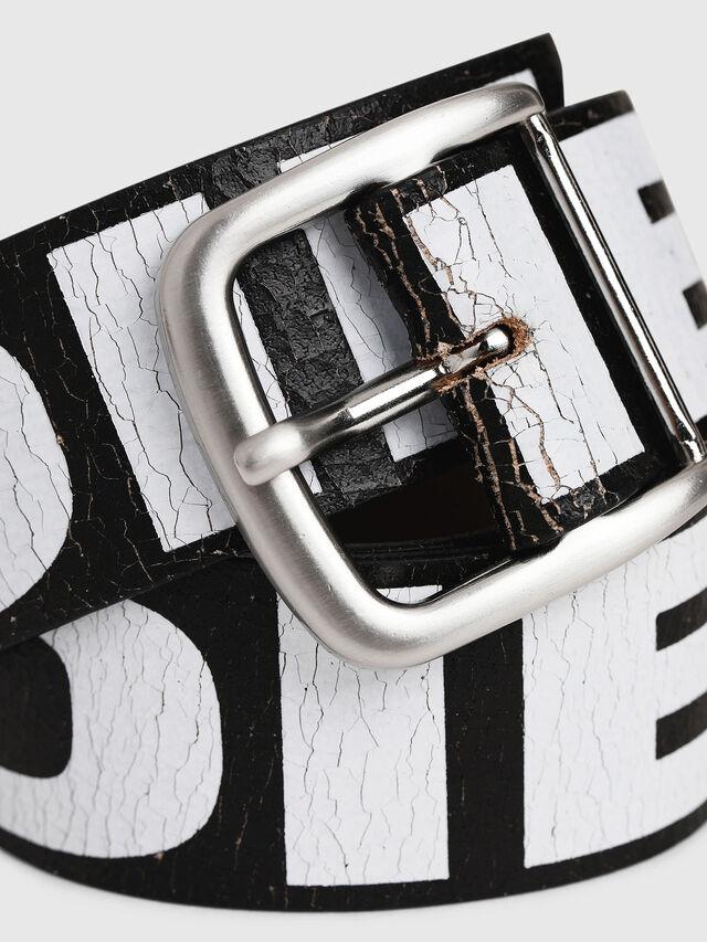 Diesel - B-ARBARANO, Black/White - Belts - Image 2