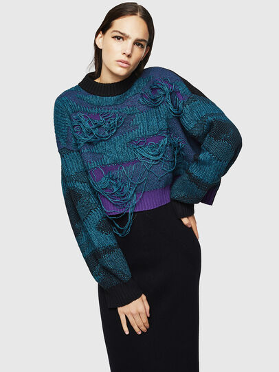 Diesel - M-KAM, Blue Marine - Knitwear - Image 1