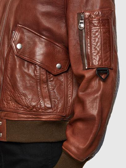 Diesel - L-STEPHEN, Brown - Leather jackets - Image 5