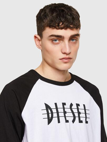 Diesel - T-BEISBOL, White - T-Shirts - Image 3