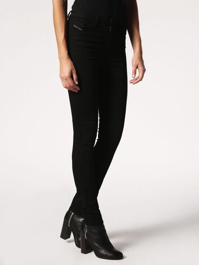 SKINZEE-HIGH 0813E, Black Jeans