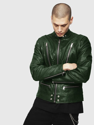 Mens Leather Jackets Go With The Hunch On Diesel Com