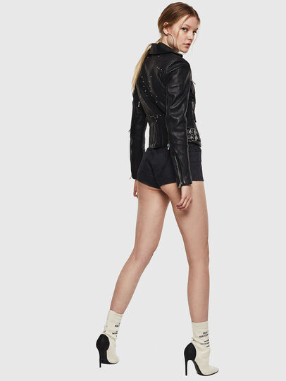 Diesel - L-SINYA-A, Black - Leather jackets - Image 6