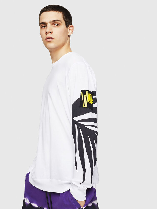 Diesel - T-JUST-LS-RIB, White - T-Shirts - Image 4