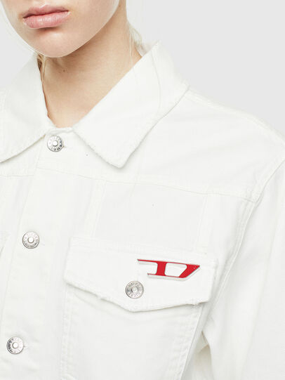 Diesel - DE-CATY, White - Denim Jackets - Image 3