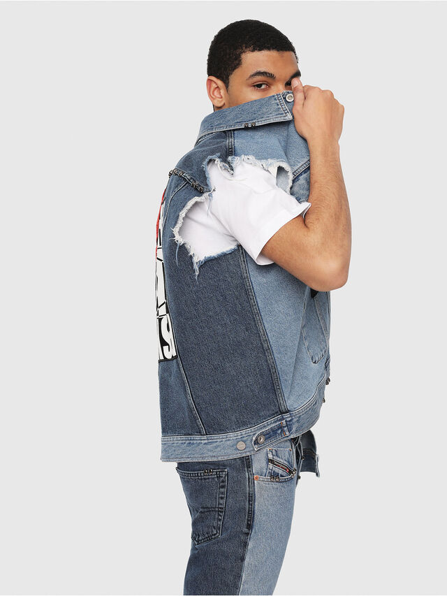 Diesel - D-VINNY-M, Medium blue - Denim Jackets - Image 5