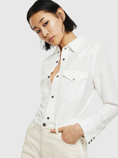 Diesel - DE-RINGY, White - Denim Shirts - Image 5