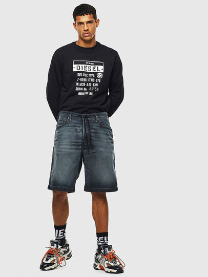 Diesel - D-WILLOH CB JOGGJEANS, Dark Blue - Shorts - Image 6