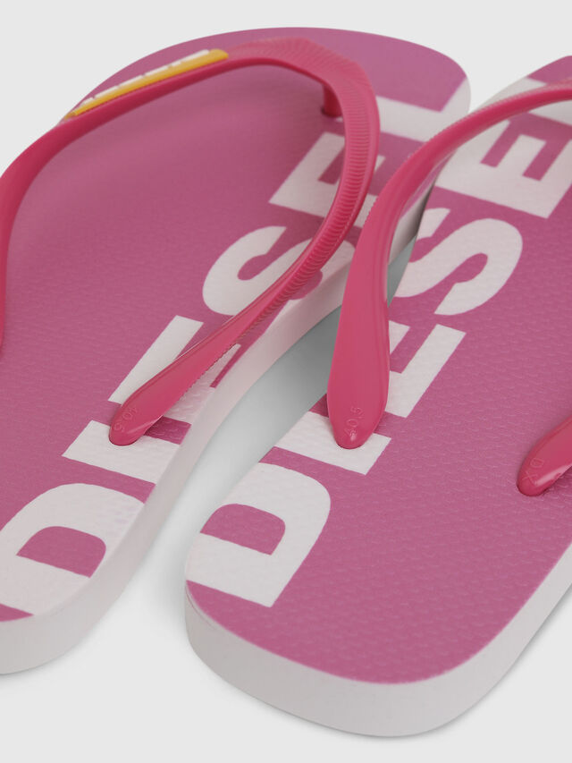 Diesel - SA-BRIIAN W, Pink/White - Slippers - Image 4