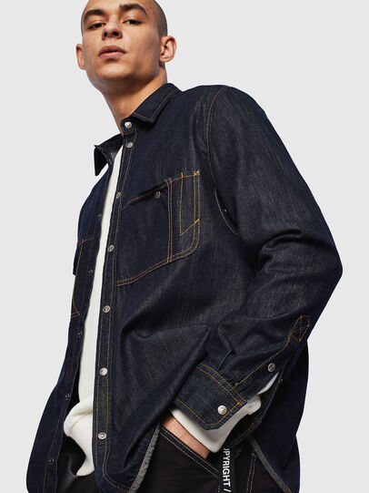 Diesel - D-MILLY, Dark Blue - Denim Shirts - Image 4