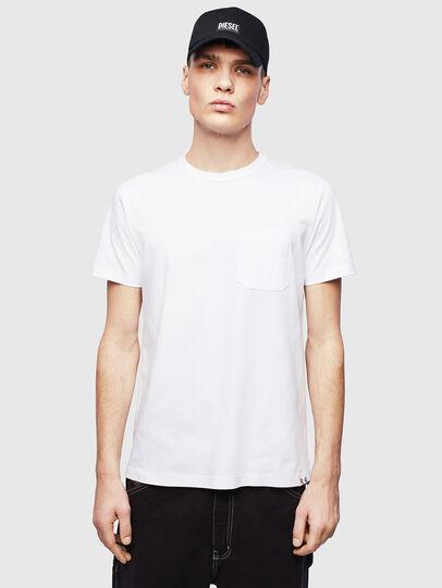Diesel - T-RABEN-POCKET, White - T-Shirts - Image 1