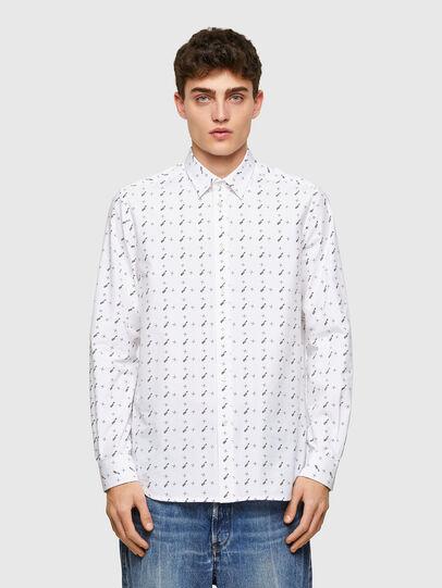 Diesel - S-RILEY-TM-LS, White - Shirts - Image 1
