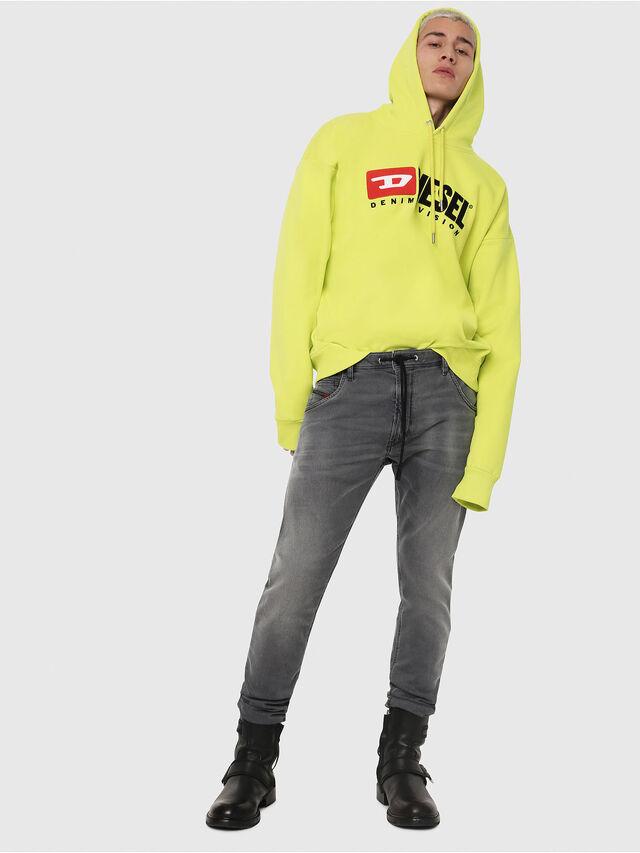 Diesel - Krooley JoggJeans 069EH, Black/Dark grey - Jeans - Image 4