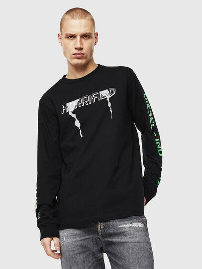 Diesel - T-JUST-LS-VINT, Black/White - T-Shirts - Image 1