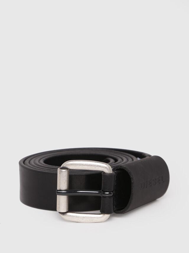 Diesel - B-ASTAR, Black Leather - Belts - Image 1