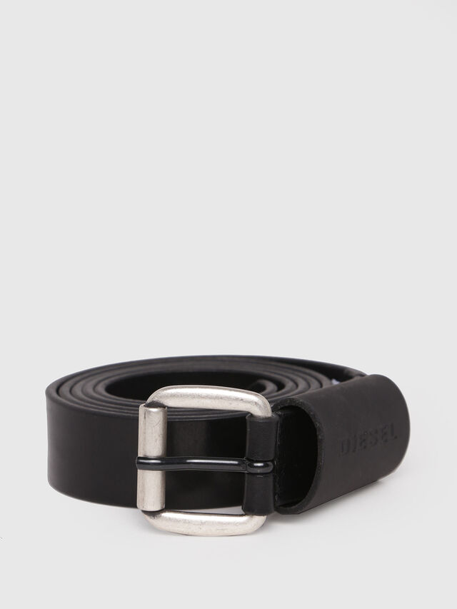 Diesel - B-ASTAR, Black Leather - Belts - Image 1