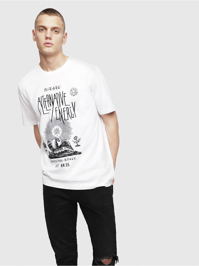 Diesel - T-JUST-YI, White - T-Shirts - Image 1