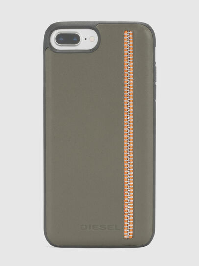 Diesel - ZIP OLIVE LEATHER IPHONE 8/7/6s/6 CASE,  - Cases - Image 2
