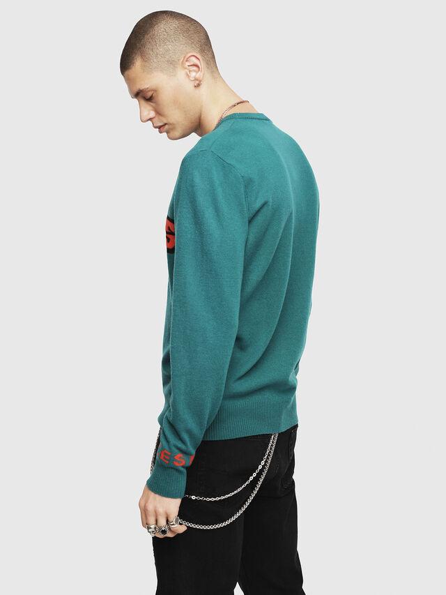 Diesel - K-COOL, Dark Green - Knitwear - Image 2