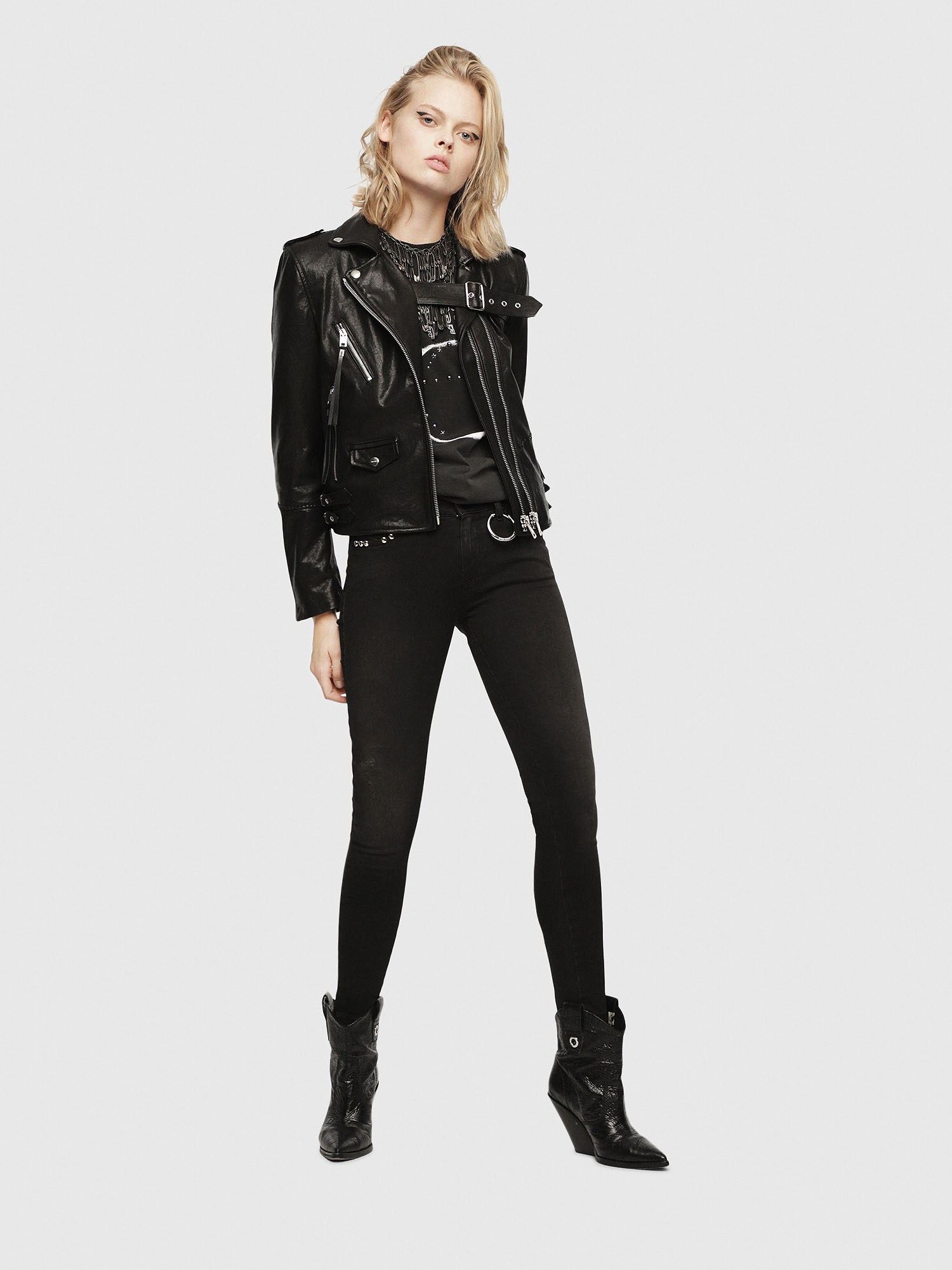 Diesel - SE-LENE,  - Leather jackets - Image 6