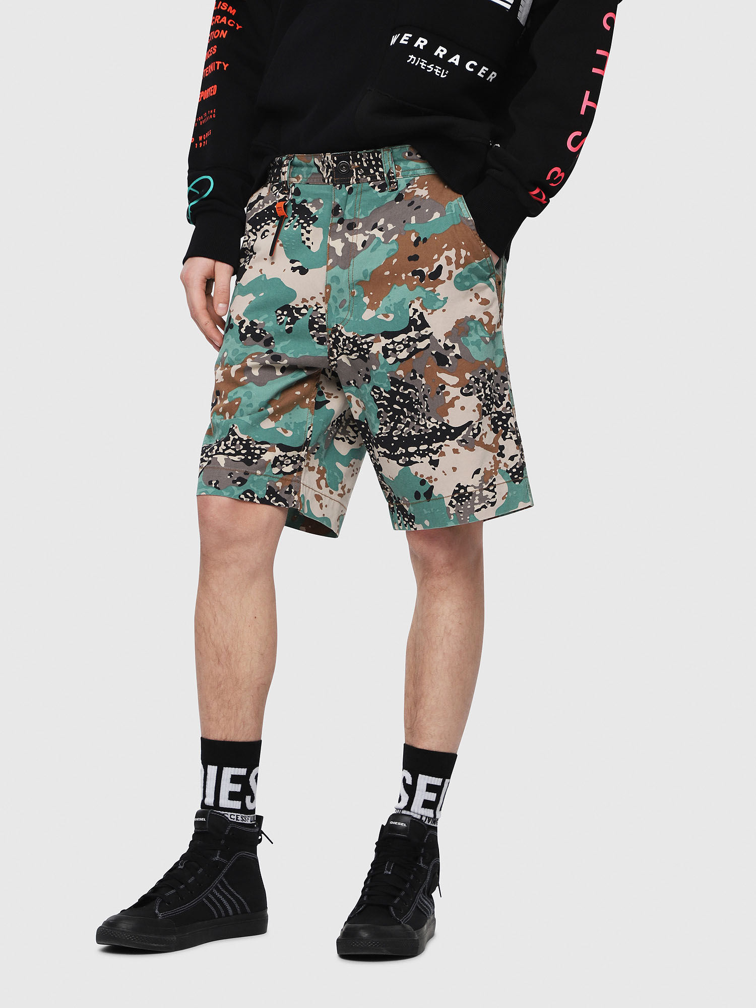 Diesel - P-FRANK-SHO-CAMOU,  - Shorts - Image 1