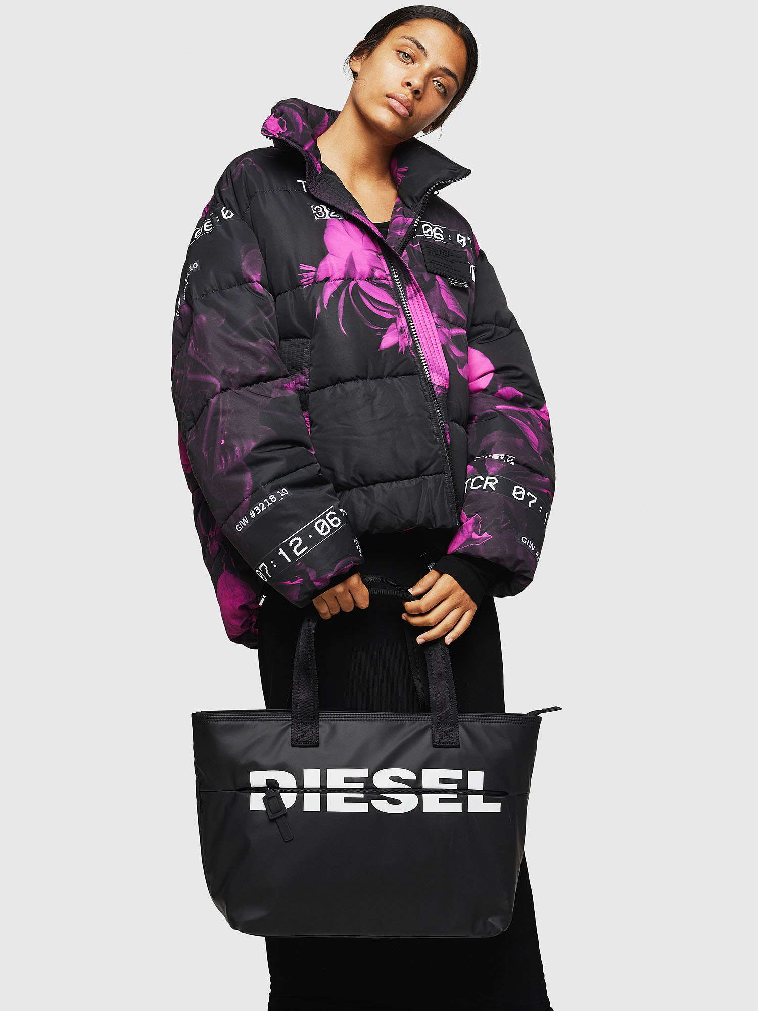 Diesel - F-BOLD SHOPPER II,  - Shopping and Shoulder Bags - Image 6