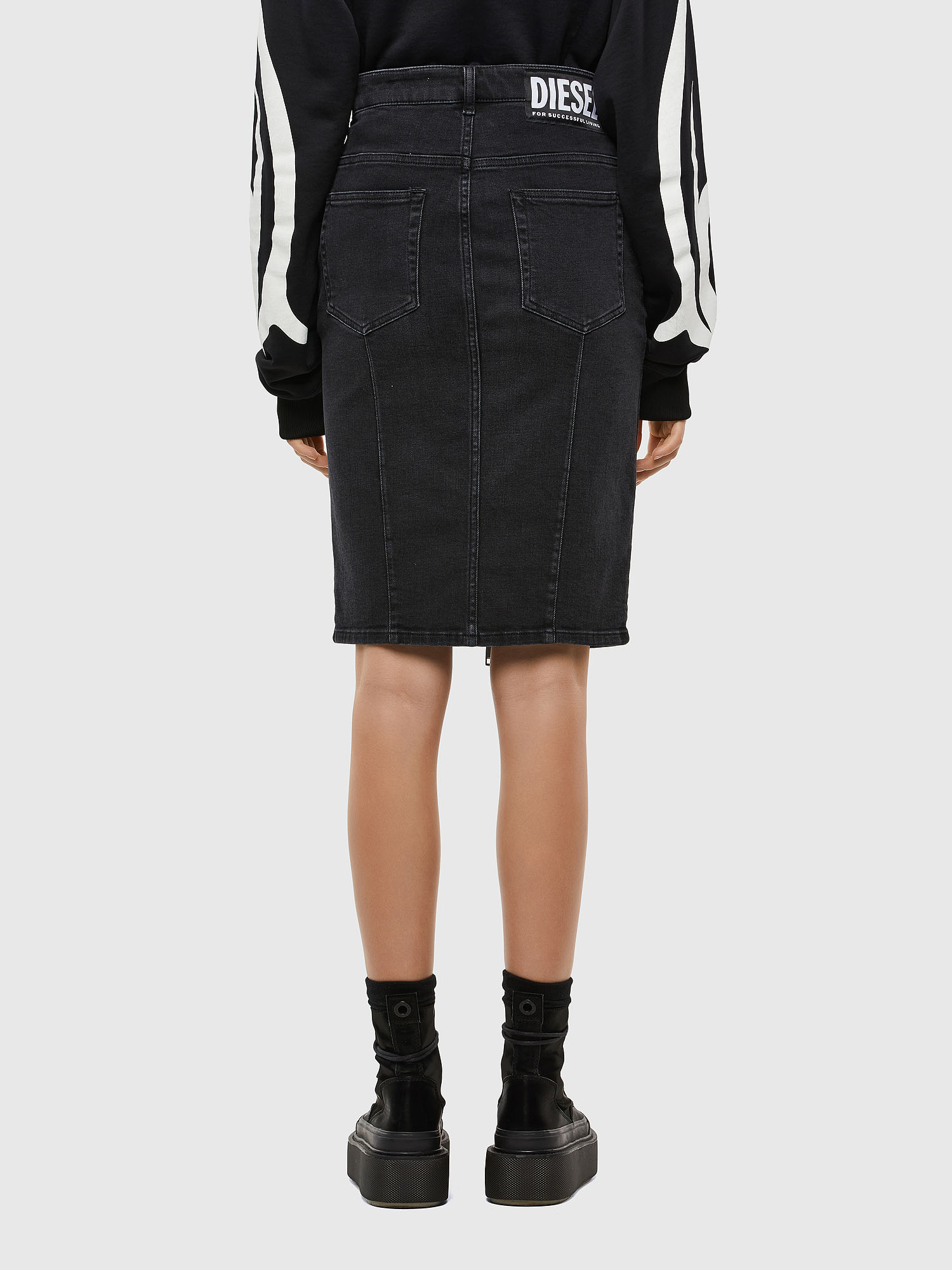 Diesel - DE-PENCIL-ZIP,  - Skirts - Image 2