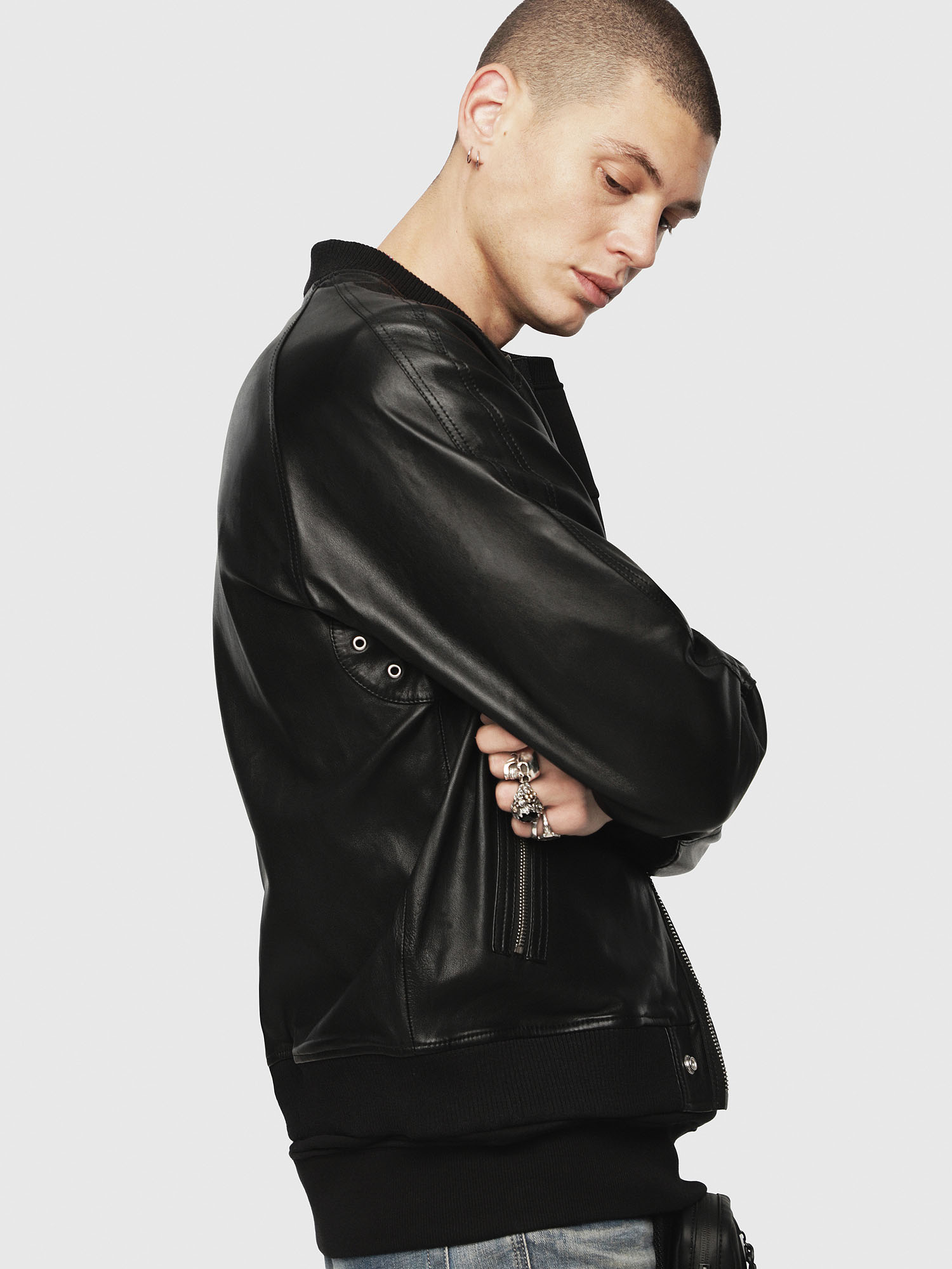 Diesel - L-PINS-A,  - Leather jackets - Image 3